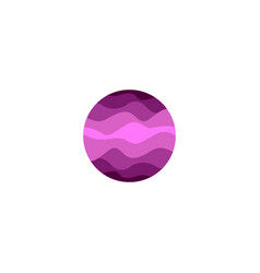 isolated abstract purple color round shape logo on vector image vector image