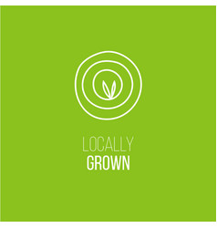 locally grown targeting emblem vector image