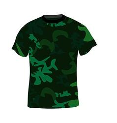 Military shirt vector image vector image