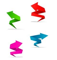 origami Arrow web banners vector image vector image