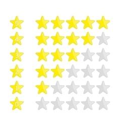 Rating stars navigation vector