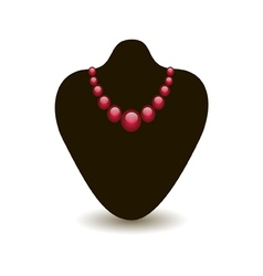 red necklace on a black mannequin vector image