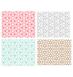 Seamless pattern in mesh style hexagon concept vector