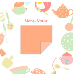 small leaf for menu notes vector image