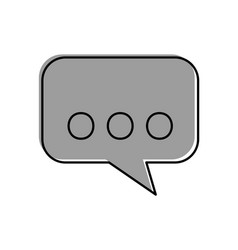 speech bubble isolated icon vector image vector image