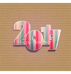 striped figures numbers 2017 vector image vector image