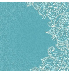 Vintage ornamental lace invitation on the seamless vector