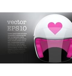 White woman motorcycle helmet vector