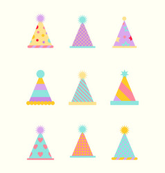 Party hat set isolated on a white vector