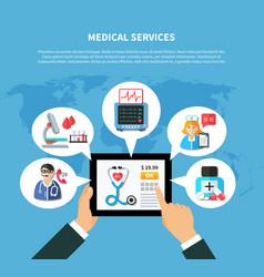 online medical services flat design vector image