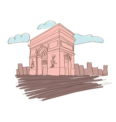 Arc de triomphe - paris vector