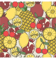 Seamless fruit pattern vector