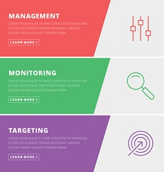 Flat design concept for management monitoring vector
