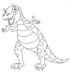 Outlined dinosaur vector