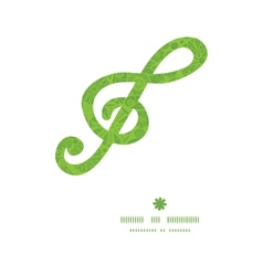 Abstract green and white circles g clef musical vector