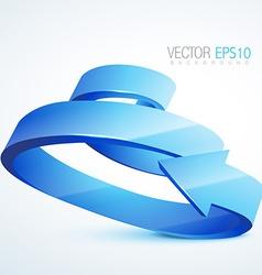 3d sprial arrow vector image vector image