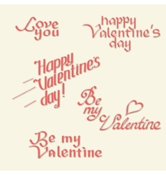 Valentines day calligraphy vector