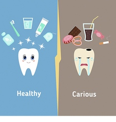Teeth cleaning vector image