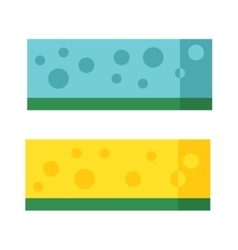 Kitchenware scouring pads flat icon cartoon vector image