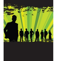 Business people grunge background vector