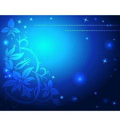 abstract blue christmas background vector image vector image