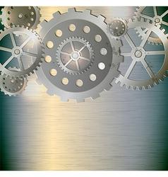 Abstract metallic industrial background vector image vector image