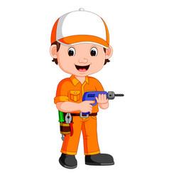 cartoon a mechanic vector image