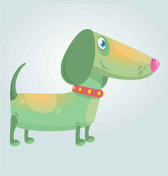 cartoon cute purebred dachshund dog vector image vector image