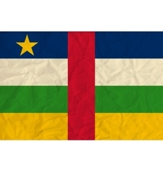 Central african republic paper flag vector