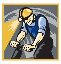 Coal miner drilling vector
