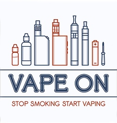 Color of vape vector image