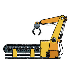computer controlled automated manufacturing vector image