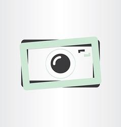 digital camera photography icon vector image vector image