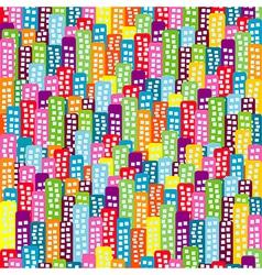 Doodle block pattern vector image vector image