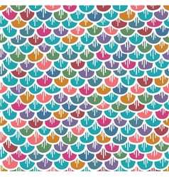 Fish Scales Seamless Pattern Colorful Cartoon vector image