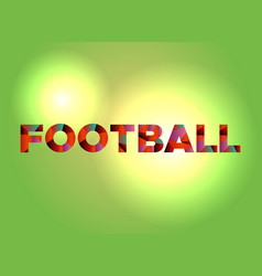Football theme word art vector