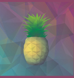 geometric exotic fruit template vector image vector image