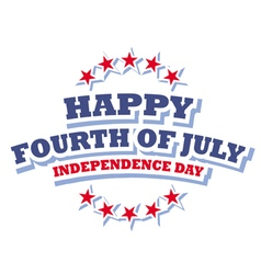 Happy Fourth of July America logo vector image vector image