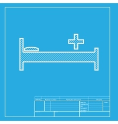 Hospital sign white section of icon vector