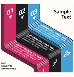 isometric flat design infographics vector image vector image