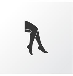 leg icon symbol premium quality isolated foot vector image