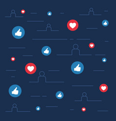 Likes and loves symbols social sites concept vector