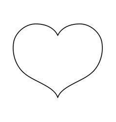 Line nice heart icon design vector