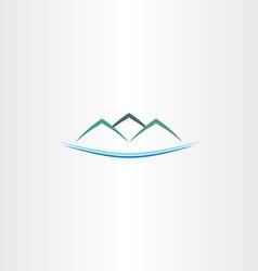 Sea and mountains island logo icon vector