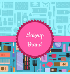 style makeup and skincare vector image