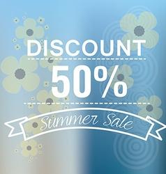 Summer sales vector image