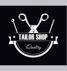 Tailor shop of high quality promotional black and vector