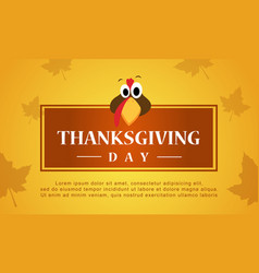 Thanksgiving day autumn background stock vector