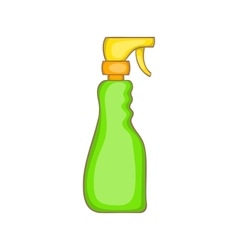 Household spray bottle icon cartoon style vector
