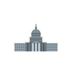 United states capitol icon flat style vector